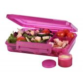 Lunch box pink trio dressing pot 1.1L Clic-tite Polar Gear