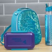 Mermaid Sequin Backpack Lunch Bag- Pack of 4